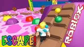 Побег от Конфет в Роблокс Escape Candy Land Obby! Детское видео Игровой мультик Let's play