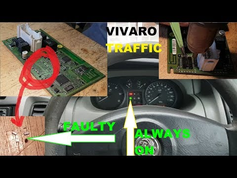 Vauxhall Vivaro 2003 turn signal always on. UCH faulty. Fault finding and repair.
