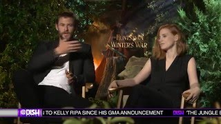 THE HUNTSMAN Interviews: Chris Hemsworth and Jessica Chastain