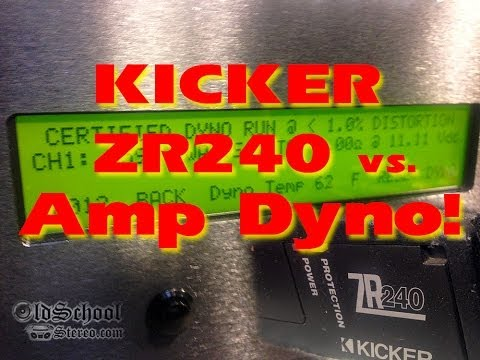 Kicker ZR240 vs SMD Amp Dyno AD-1 FULL Power Output Test Wattage RMS