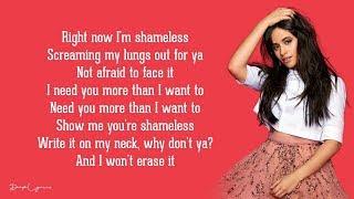 Camila Cabello   Shameless (Lyrics) 🎵