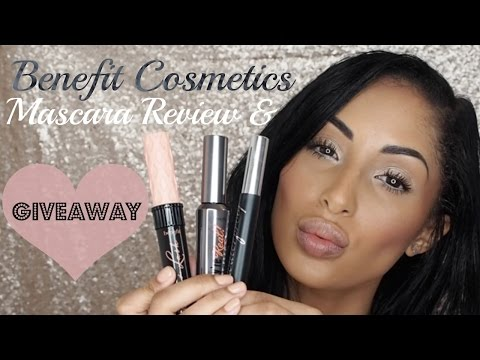 GIVEAWAY CLOSED Benefit They're Real, Rollerlash & BADgal Mascara Review | Only In Chanelle's World