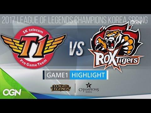 [H/L 2017.01.24] SKT vs Tigers Game1 - 2017 LCK Spring Split (롤챔스 하이라이트) 2017 롤챔스 코리아 스프링(2017 LCK S