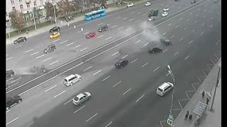 ДТП на Кутузовский проспекте  Москва 02 09 2016