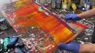 Attempting A 12 Layered Gerhard Richter Style Scraped Abstract Painting