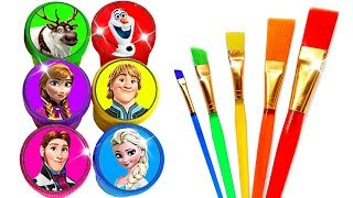 Glitter Drawing & Coloring Ideas With Disneys Frozen Characters