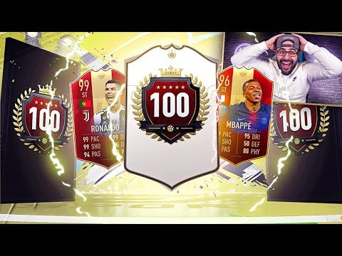 OMG ICON PACKED!! INSANE TOP 100 ULTIMATE TOTS REWARDS! FIFA 19 Ultimate Team