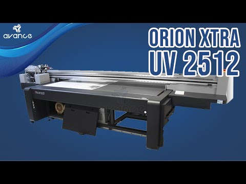 Impresora UV de cama plana para materiales rígidos Orion XTRA UV 2512