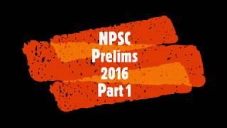 NPSC Prelims 2016 | Quantitative Abilities| Part 1