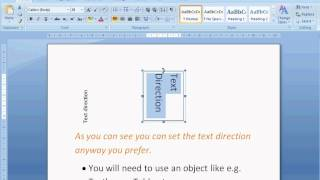 Change Text Direction In Word 20072010