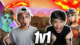 *INSANE* Sniper Only 1v1 Against Little Brother in Fortnite: Battle Royale! (INTENSE)