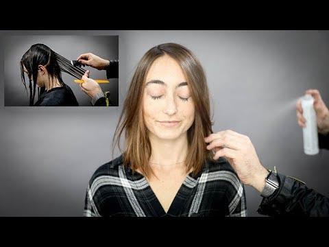 Razor haircut on Fine Hair Tutorial | MATT BECK VLOG SEASON 2 007