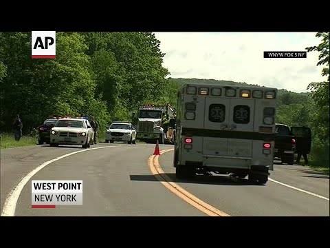 A vehicle loaded with West Point cadets on summer training overturned on a dirt road Thursday, killing one cadet and injuring 22 other passengers.Lt. Gen. Darryl A. Williams said the cadets are seniors at the U.S. Military Academy. (June 6)