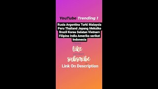 YouTube Trending 20 Sep Thailand Jepang Meksiko Brasil Korsel Vietnam Filiphina India AS Indonesia