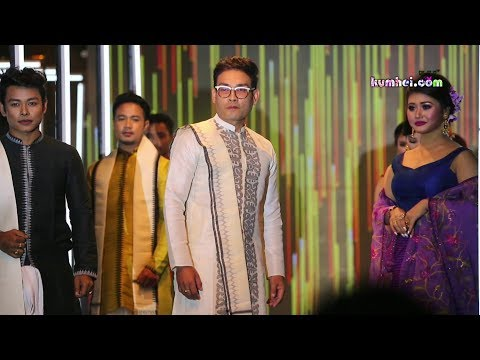 Manipuri Film Artists Walking the Ramp in Face of Radiant Group 2019