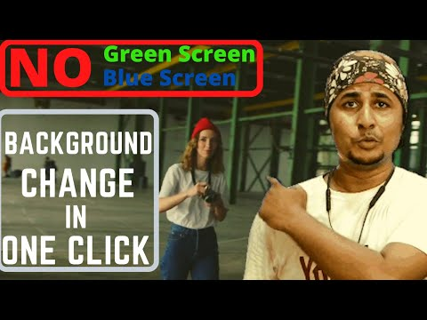 How to change video background without green screen or chroma key | No apps No software