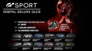 GT SPORT - All Digital Deluxe DLC (Limited Edition DlCs) All 12 Starter Packs