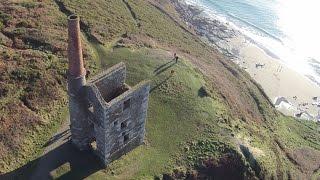 Phantom Vision 2+ V3 Aerial Views from Cornwall, Porthleven