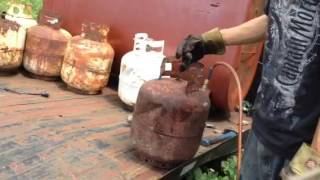 How I Remove/Recycle Propane Tank Valves (part 2)