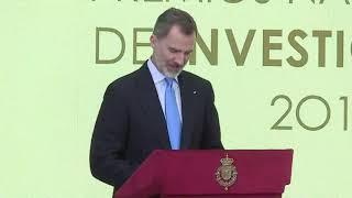 SS.MM. los Reyes presiden el acto de entrega de los Premios Nacionales de Investigación 2019