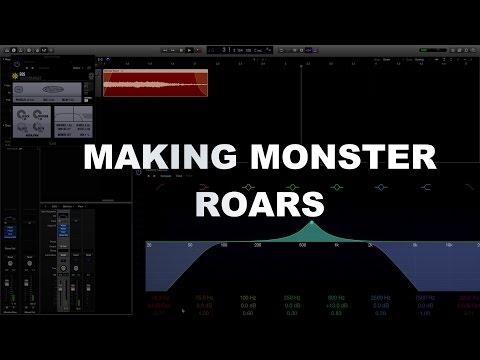 Video Game Sound Design Tutorial - Making Monster Sounds Part 2 - Monster Roars
