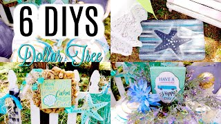 💙6 DIY DOLLAR TREE COASTAL BEACH SUMMER DECOR CRAFTS 💙WREATH Olivias Romantic Home
