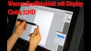 Wacom Cintiq 22HD Deutsch - Grafiktablett Auspacken und Test - Unboxing