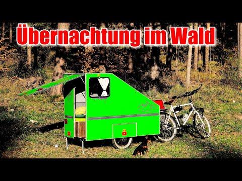 Übernachtung im Wald mit dem Fahrradwohnwagen 😍 3Tage on Tour
