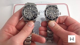 "Rolex Submariner 116610 ""Super Case"" vs. Submariner 16800 Transitional"