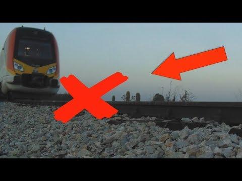 EXPERIMENT TRAIN 70ton VS SOAP Loram rail grinder under train view