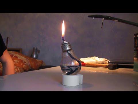 Öl-Lampe selber machen, ganz einfach!!!