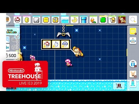 Super Mario Maker 2 Gameplay Pt. 3 - Nintendo Treehouse: Live | E3 2019 thumbnail