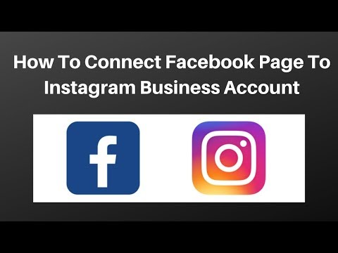 How to connect facebook page to instagram business account