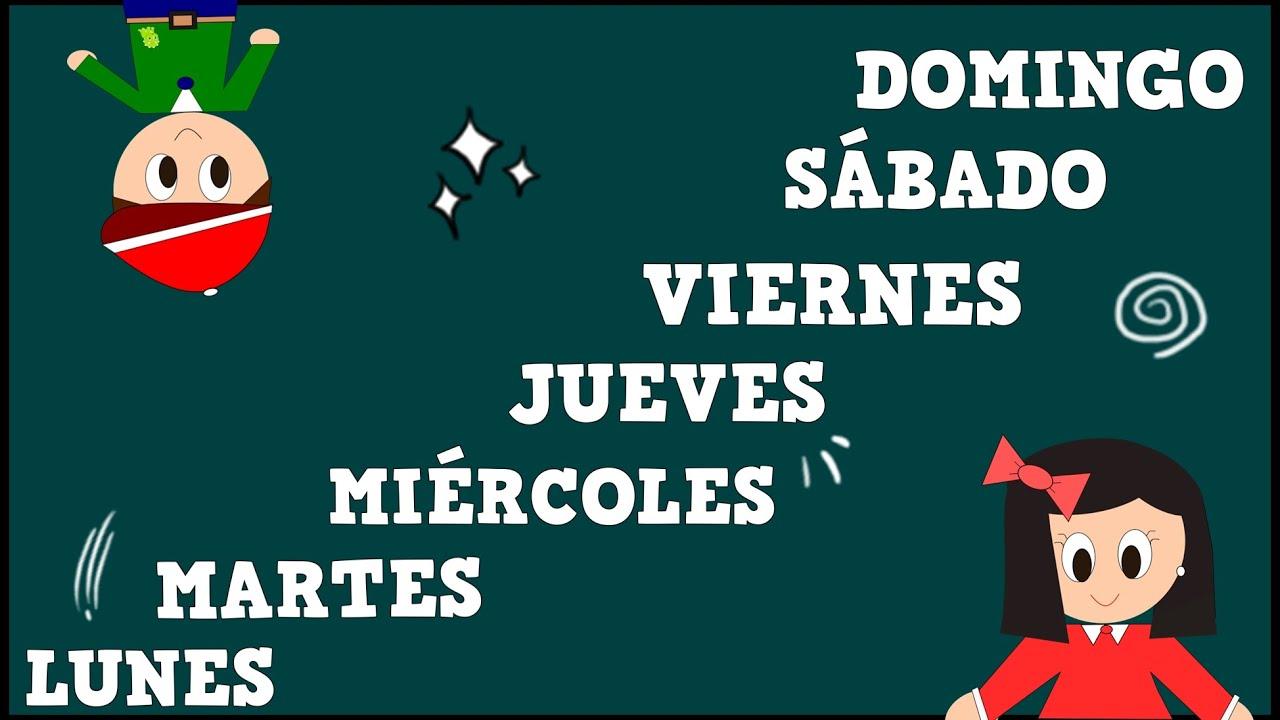 Los Días de la Semana - Days of the Week in Spanish -Vídeos educativos para Niños y Bebés