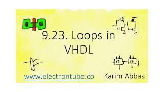 9.23. Loops in VHDL