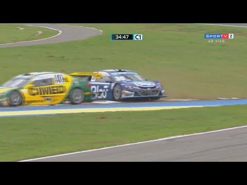 Stock Car Brasil 2017. Race 1 Autódromo Internacional de Goiânia. Start | 1st Laps Crashes\Spins