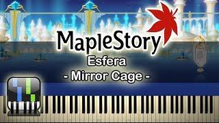 🍍Mirror Cage(깊은 거울) - Esfera(에스페라)  - [Maplestory] - Synthesia Piano Tutorial🥥