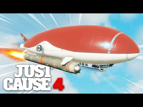 Just Cause 4 - NUKE POWERED AIRSHIP STUNT!