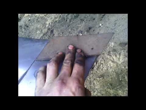 Реставрация лемеха для плуга, своими руками, в домашних условиях, самый простой способ