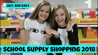 Back to School ~ Supply Shopping 2018 ~ Jacy and Kacy