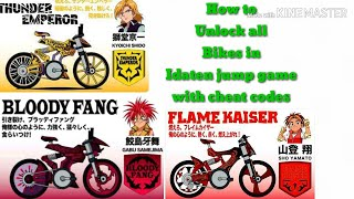 How to Unlock all bikes in Idaten jump game with cheat codes by Harshit
