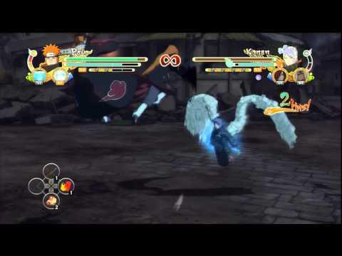 Pain (Torn Robes), Madara (Alive) and Sage Kabuto VS Konan, Nagato and Jiraiya