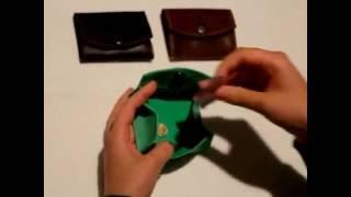 Уникальные кожаные монетницы ручной работы от компании Профессиональные краски для кожи, кожзама, замши, нубука, резины и ПВХ - видео 1