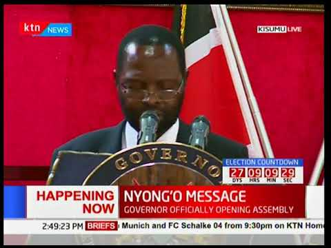 Prof. Anyang' Nyong'o officially opens Kisumu county's assembly