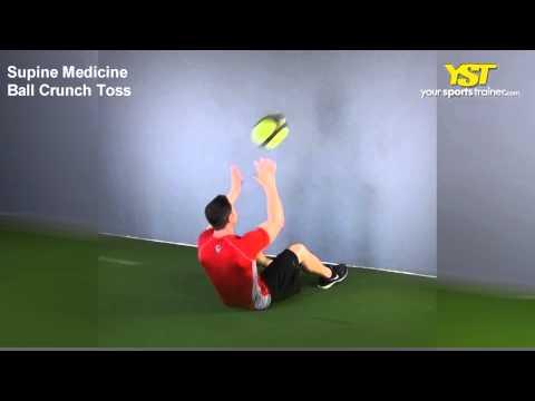 Medicine Ball Crunch Toss