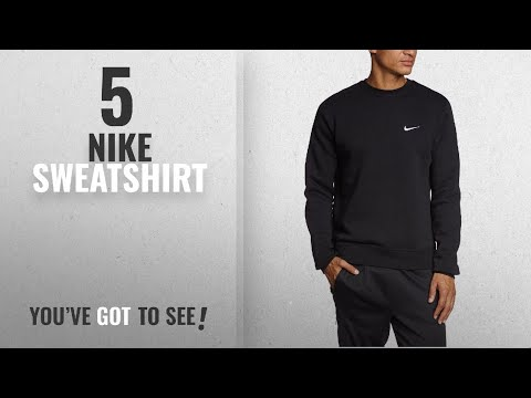 Top 10 Nike Sweatshirt [2018]: Nike Club Swoosh Men's Crew Fleece Sweatshirt