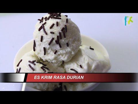 Video Resep Es Krim Rumahan Rasa Durian