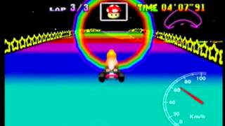 MK64 - former world record on Rainbow Road - 5'53''25 (NTSC: 4'53''79)