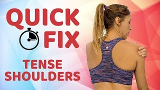 Quick Relief For Tense Shoulders & Neck Pain ♥ Easy 7 Minute Routine! DIY Pain Relief, Self Massage