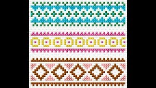 Hand Made Cross Stitch Border Design Ideas